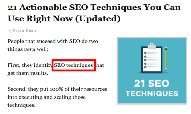 7. Drop Keyword in First 100 Words